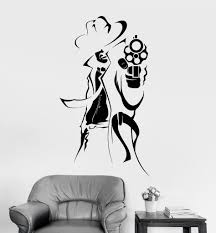 wall decal gangster mafia man gun coolest room art vinyl stickers wall decal gangster mafia man gun coolest room art vinyl stickers ig2999