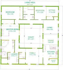 Floor Plans For Small Houses With 3 Bedrooms Best 25 Courtyard House Plans Ideas On Pinterest House Floor