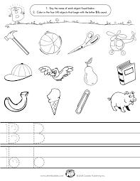 letter b worksheet worksheets