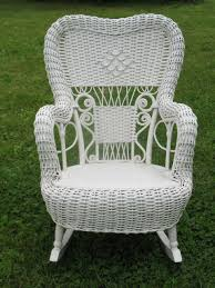 home decor bautiful wicker rocker to complete fancy antique