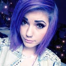 scene haircuts for curly hair short purple hair u003c3 i love this picture of leda 333 found on