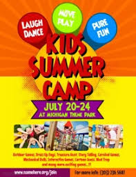 customizable design templates for summer camp flyer postermywall