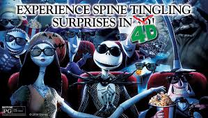 the nightmare before in 3 d with 4 d sensory effects los