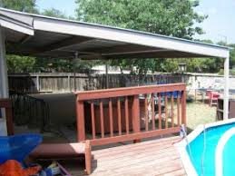 Backyard Awning Patio Awning With Deck New Braunfels Texas Installation Carport