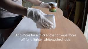 White Wash Wood How To Apply General Finishes Whitewash Wood Stain Youtube