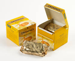 twinings tea is wrapped in compostable greener package