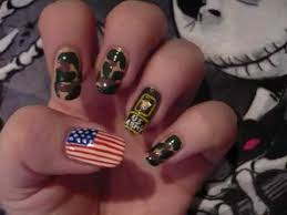 1st entry to vxhoneyxv8 patriotic nail art subbie contest level 1