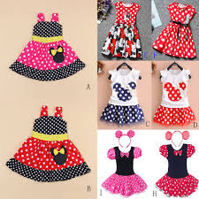 baby kids minnie mouse party tutu dress toddler polka dot top