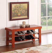 solid wood entryway storage benches ebay
