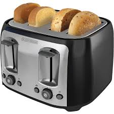 Toasters Toast Toast Black Decker 4 Slice Multi Function Toaster Bagel Toaster Black