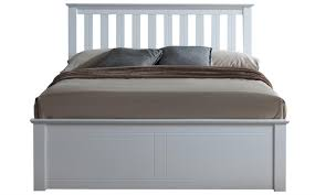 Phoenix White Wooden Ottoman Bed Double Only 329 99 Furniture