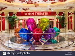 Buffet At The Wynn by The Jeff Koons Tulips Sculpture Display At The Wynn Hotel In Las