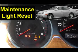 Lexus Maintenance Light Reset Proceedures Auto Repair Series