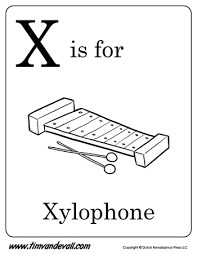 xylophone letter coloring alphabet book