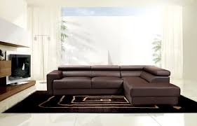Leather Sectional Sofa by Modern Brown Leather Sectional Sofa