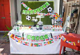 Soccer Theme Party Decorations Soccer Themed Birthday Party Invitations Free Printable