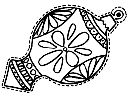 coloring pages of christmas ornaments coloring page for kids