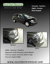 chrysler pacifica fender dent repair excel dent removal