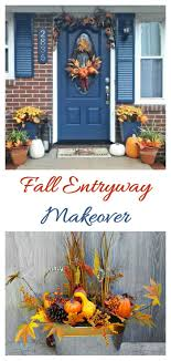 fall entryway makeover decorate your front door with colors of autumn