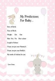 baby shower for cutest baby shower idea for guests to fill out for the to be
