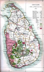 1914 World Map by Detailed Old Map Of Ceylon Sri Lanka 1914 Sri Lanka Asia