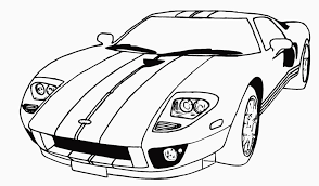 coloring delightful cars coloring sheet car pages ford gt