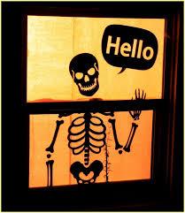 halloween window silhouettes home design ideas