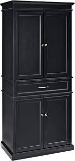 black kitchen pantry cupboard crosley furniture parsons pantry cabinet black
