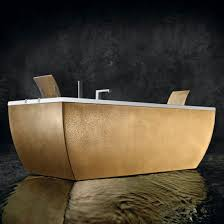 Blubleu by Free Standing Bathtub Copper Double Kali U0027 Metal Blu Bleu