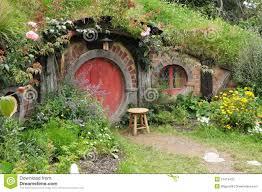 red door hobbit house editorial photography image 37412432