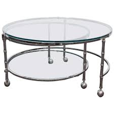 ibiza round glass and chrome coffee table accent tables living