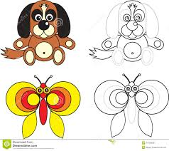 coloring page book for kids dog stock photos image 14510473