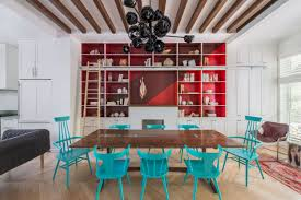 Red And Teal Kitchen by Jessica Helgerson Interior Design