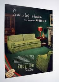 kroehler furniture august 1952 early 1950s home life furniture