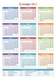 calendar 2016 2017 2018 2019 2020 yearly calendar pdf word image