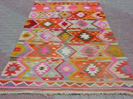 Kilim Area Rug Modern Bohemian Turkish Kilim Area Rug Carpet Handwoven Kilim