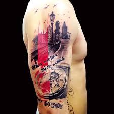 polka tattoo on arm