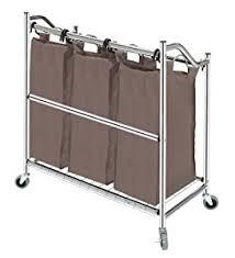 Laundry Sorter Cabinet Amazon Com Storagemaniac 3 Section Heavy Duty Laundry Hamper