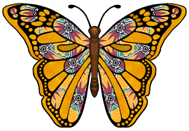 artbyjean paper crafts butterfly with bright colorful pattern