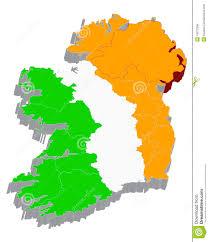 Flag Of Ireland 3d Map With Flag Of Ireland Stock Illustration Illustration Of