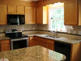 what color countertops with oak cabinets fabulous oak cabinets with granite countertops and color countertop