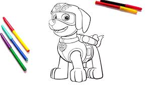 paw patrol zuma coloring pages coloring book for kids youtube