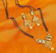 bridal gold set 396 indian bridal jewelry mangalsutra gold set chain black