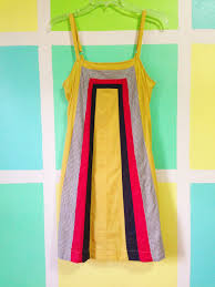 yellow color block sundress by anthropologie allihop 2ndhand