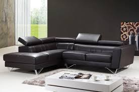 Sectional Sofas Brown Brown Leather Sectional Sofa By At Home Usa