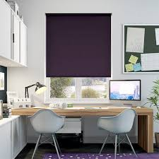 Aubergine Roman Blinds Tranquility Aubergine Blackout Roller Blind