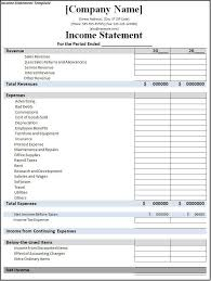 income statement spreadsheet income statement template for excel