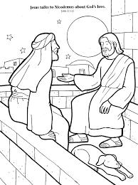 coloring page of nicodemus and jesus