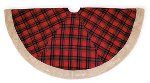 plaid tree skirt trimmings christmas plaid 56 tree skirt
