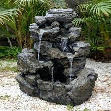 Rock Garden Features Rock Garden Fountains Garden Design Small Garden